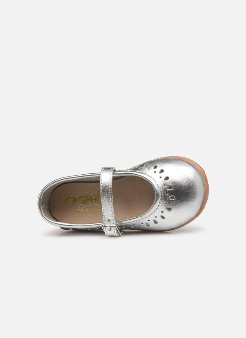 Ballet pumps Osito by Conguitos Adella Silver view from the left