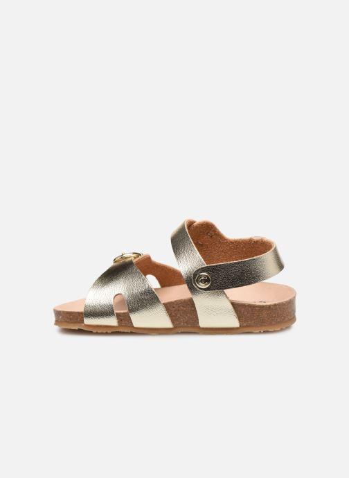 Sandales et nu-pieds Osito by Conguitos Xiomara Or et bronze vue face