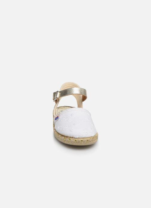 Espadrilles Osito by Conguitos Maribel Blanc vue portées chaussures
