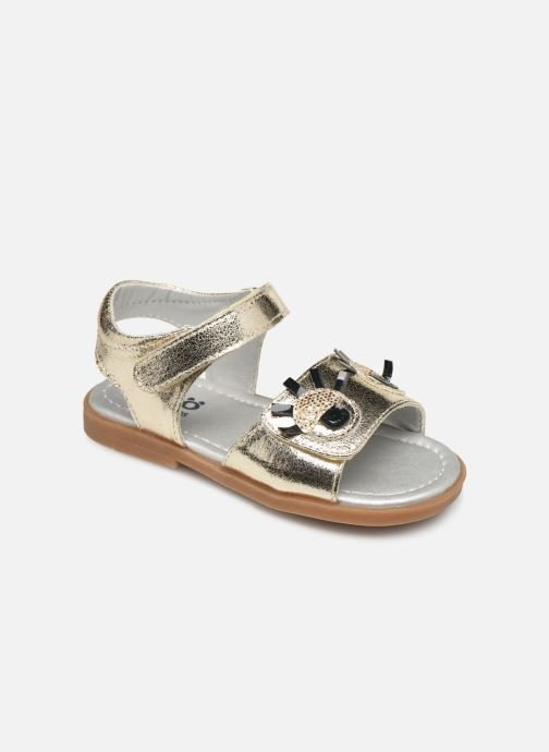 Sandals Osito by Conguitos Elvira Bronze and Gold detailed view/ Pair view