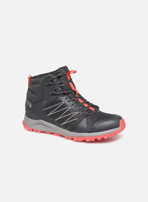 Chaussures de sport The North Face Litewave Fastpack II Mid GTX W Gris vue détail/paire
