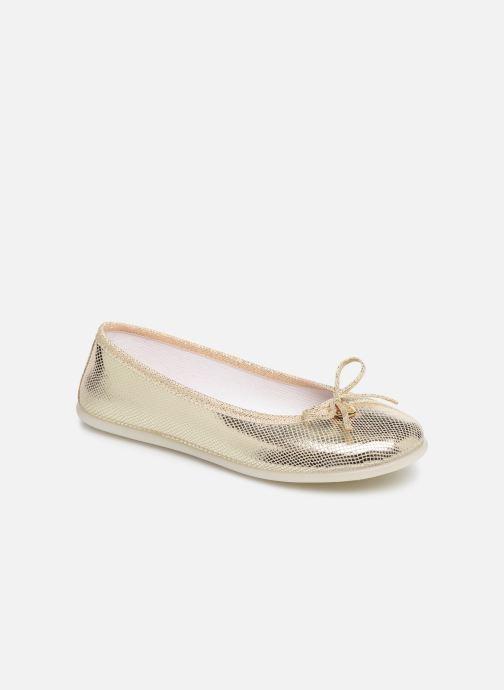 Ballerinaer Fresas by Conguitos Antonia Guld og bronze detaljeret billede af skoene