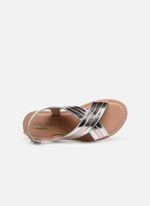 Sandales et nu-pieds Fresas by Conguitos Agata Argent vue gauche