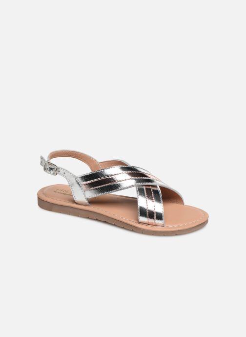 Sandales et nu-pieds Fresas by Conguitos Agata Argent vue détail/paire
