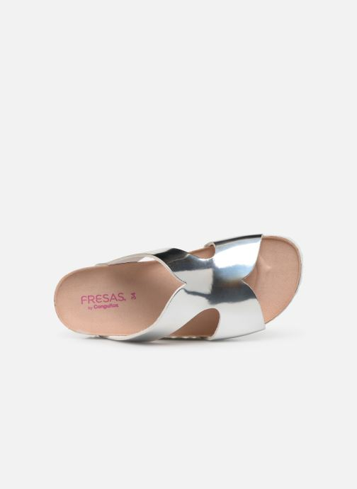 Sandals Fresas by Conguitos Carmelita Silver view from the left