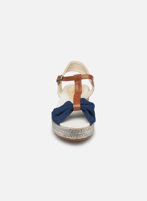 Espadrilles Fresas by Conguitos Consuelo Bleu vue portées chaussures