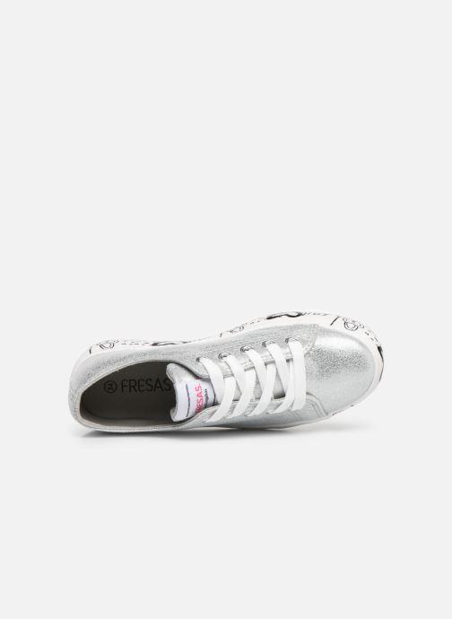 Sneaker Fresas by Conguitos Manola silber ansicht von links