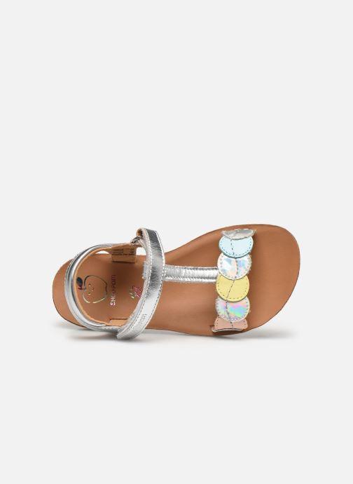 Sandales et nu-pieds Shoo Pom Goa Dots Argent vue gauche