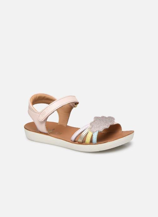 Sandales et nu-pieds Shoo Pom Goa Multi Rose vue détail/paire