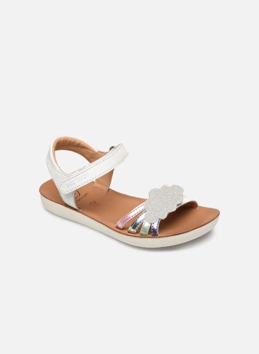 Sandales et nu-pieds Shoo Pom Goa Multi Blanc vue détail/paire