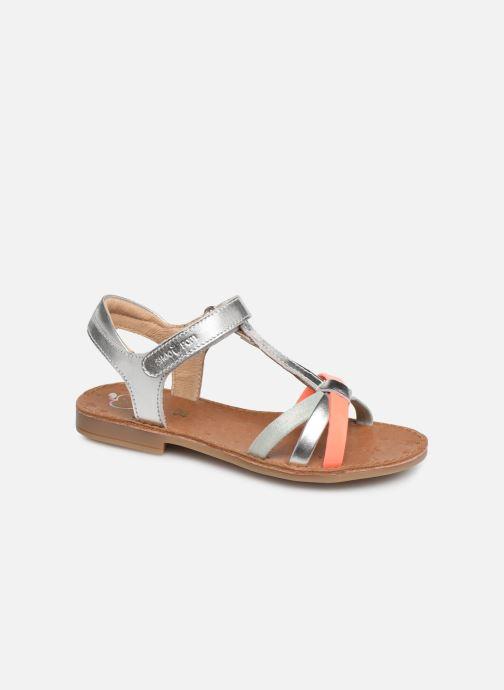 Sandales et nu-pieds Shoo Pom Happy Salome Argent vue détail/paire