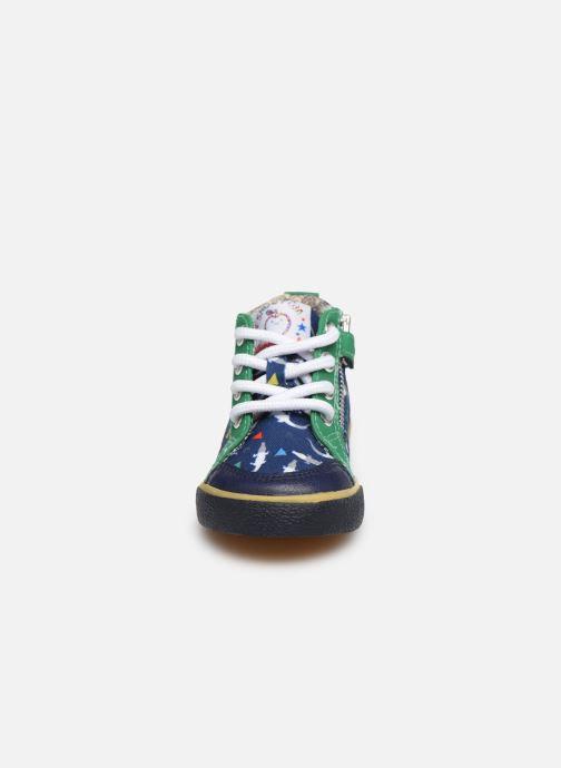 Botines  Shoo Pom Bb Zip Basket Azul vista del modelo