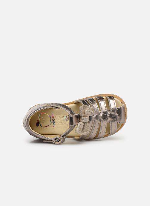 Sandalen Shoo Pom Pika Spart Knot gold/bronze ansicht von links