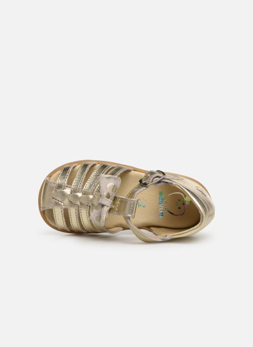 Sandals Shoo Pom Pika Spart Knot Bronze and Gold view from the left