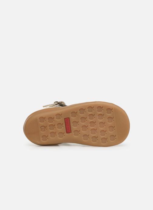 Sandali e scarpe aperte Shoo Pom Pika Spart Knot Oro e bronzo immagine dall'alto