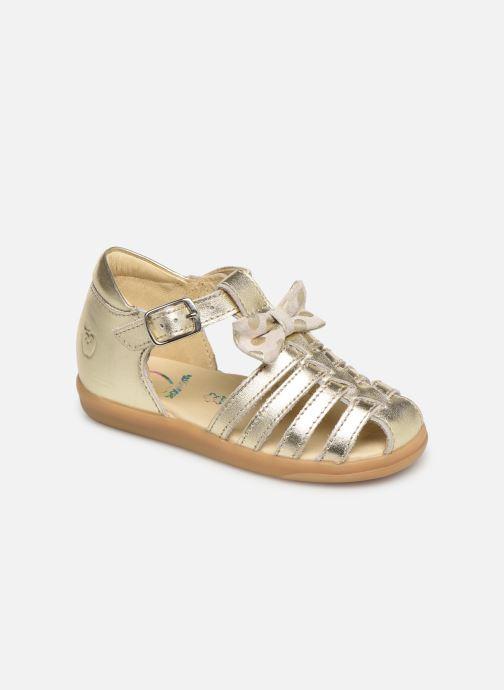 Sandales et nu-pieds Shoo Pom Pika Spart Knot Or et bronze vue détail/paire