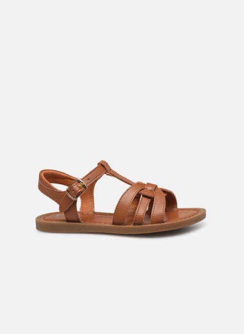 Sandales et nu-pieds Shoo Pom Solar Buckle Marron vue derrière