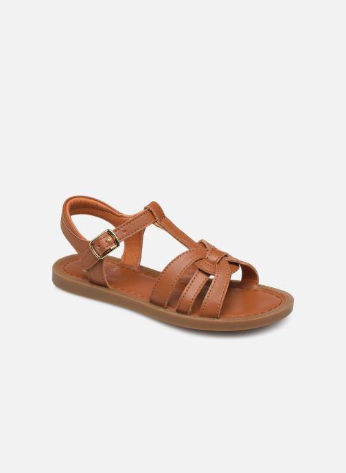 Sandales et nu-pieds Shoo Pom Solar Buckle Marron vue détail/paire