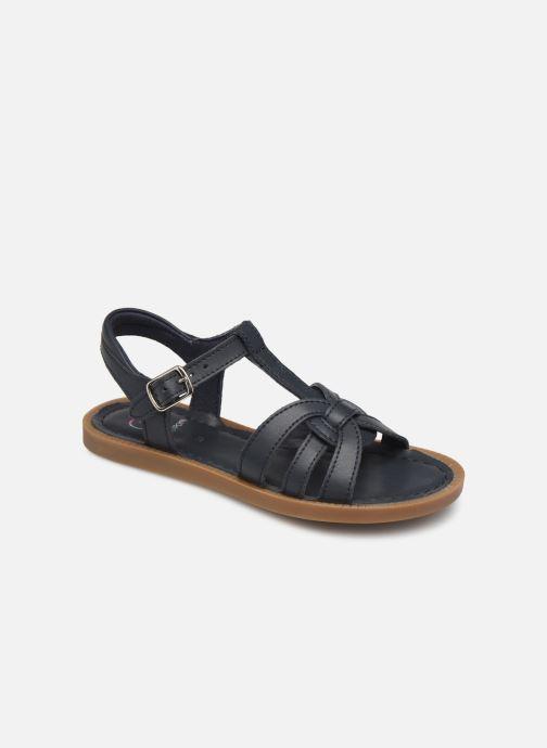 Sandales et nu-pieds Shoo Pom Solar Buckle Bleu vue détail/paire