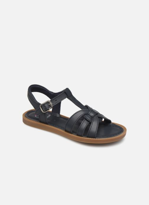 Sandaler Shoo Pom Solar Buckle Blå detaljeret billede af skoene