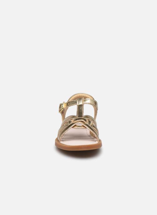Sandales et nu-pieds Shoo Pom Solar Buckle Or et bronze vue portées chaussures