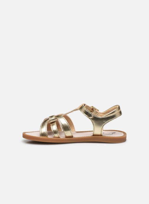 Sandales et nu-pieds Shoo Pom Solar Buckle Or et bronze vue face