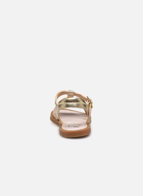 Sandales et nu-pieds Shoo Pom Solar Buckle Or et bronze vue droite