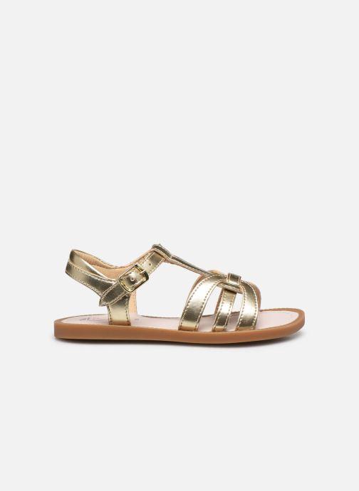 Sandales et nu-pieds Shoo Pom Solar Buckle Or et bronze vue derrière