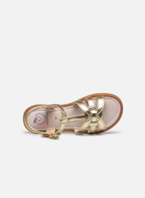 Sandales et nu-pieds Shoo Pom Solar Buckle Or et bronze vue gauche