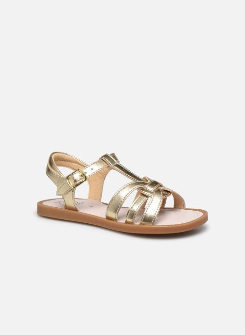 Sandales et nu-pieds Shoo Pom Solar Buckle Or et bronze vue détail/paire