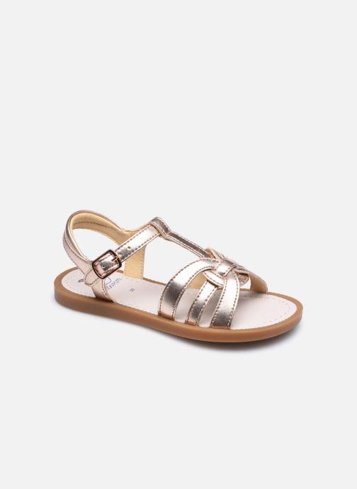 Sandales et nu-pieds Shoo Pom Solar Buckle Argent vue détail/paire