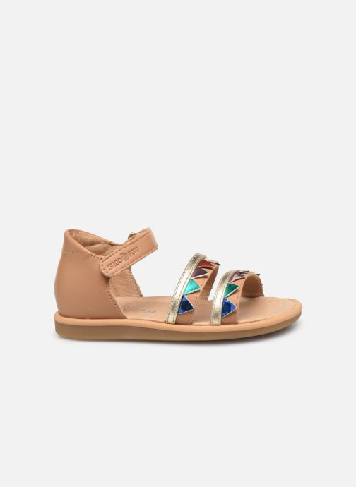 Sandals Shoo Pom Tity Flag Bronze and Gold back view