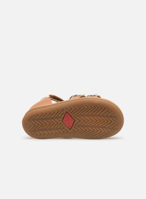Sandales et nu-pieds Shoo Pom Tity Flag Or et bronze vue haut