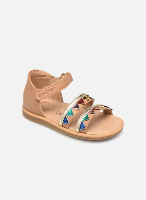 Sandals Shoo Pom Tity Flag Bronze and Gold detailed view/ Pair view