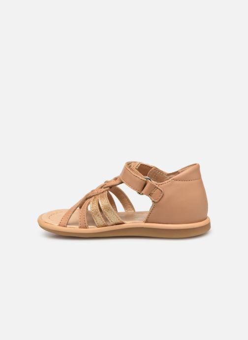 Sandales et nu-pieds Shoo Pom Tity Grigri Marron vue face