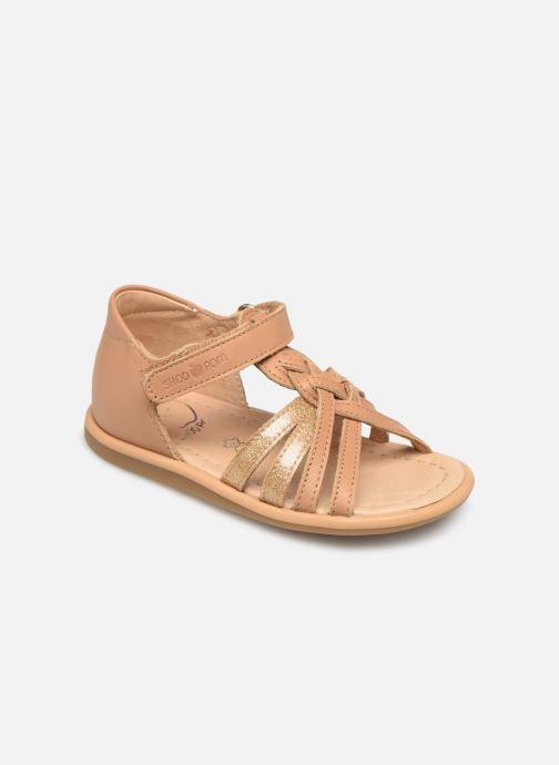 Sandales et nu-pieds Shoo Pom Tity Grigri Marron vue détail/paire