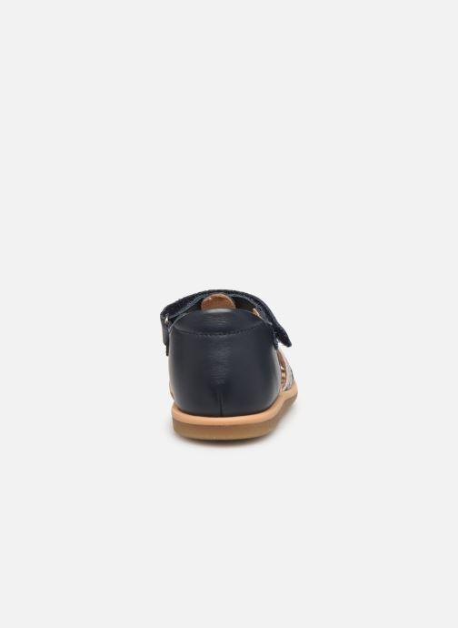 Sandaler Shoo Pom Tity Grigri Blå Se fra højre