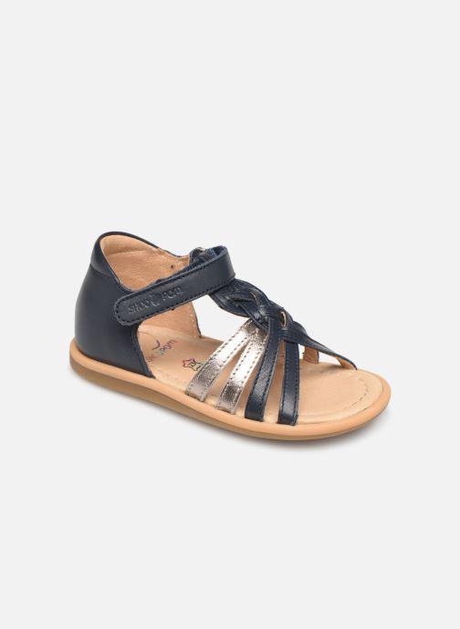 Sandaler Shoo Pom Tity Grigri Blå detaljeret billede af skoene