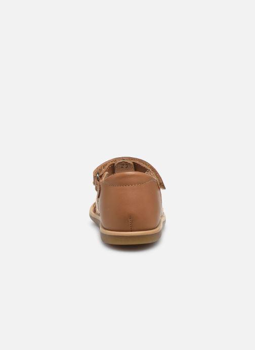 Sandales et nu-pieds Shoo Pom Tity Grigri Marron vue droite