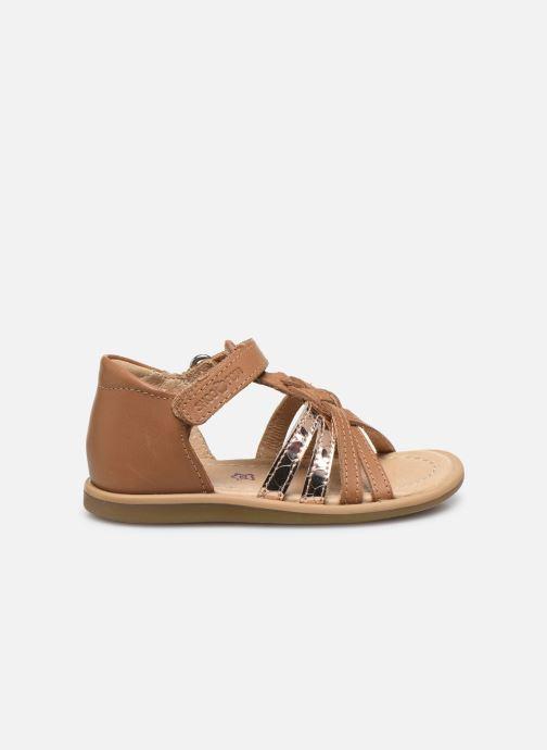 Sandales et nu-pieds Shoo Pom Tity Grigri Marron vue derrière