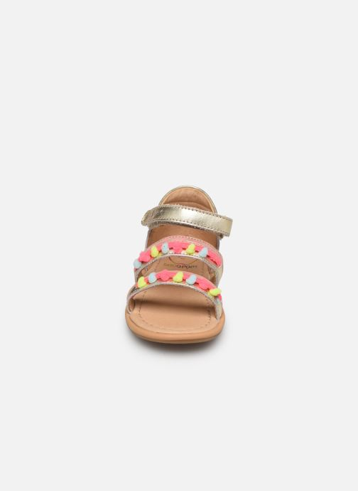 Sandals Shoo Pom Tity New Pompon Bronze and Gold model view