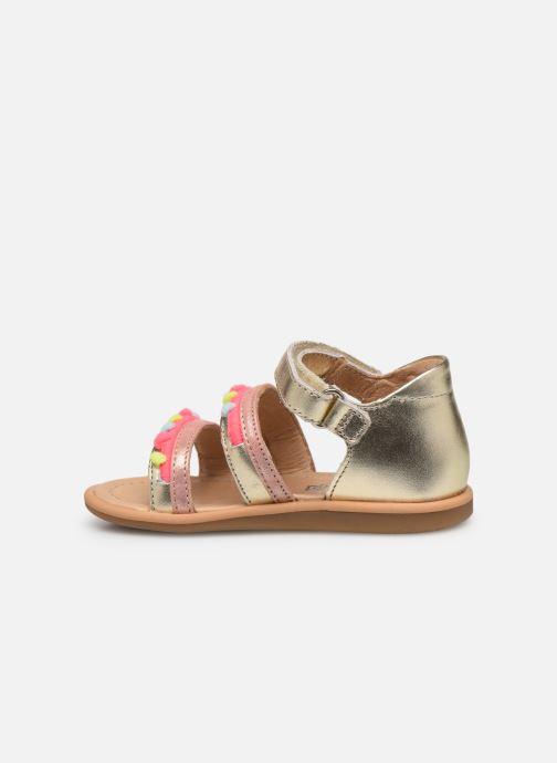 Sandales et nu-pieds Shoo Pom Tity New Pompon Or et bronze vue face