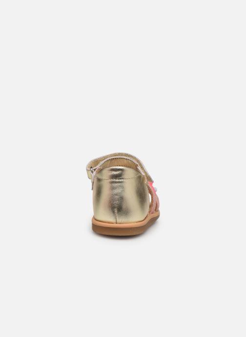 Sandales et nu-pieds Shoo Pom Tity New Pompon Or et bronze vue droite