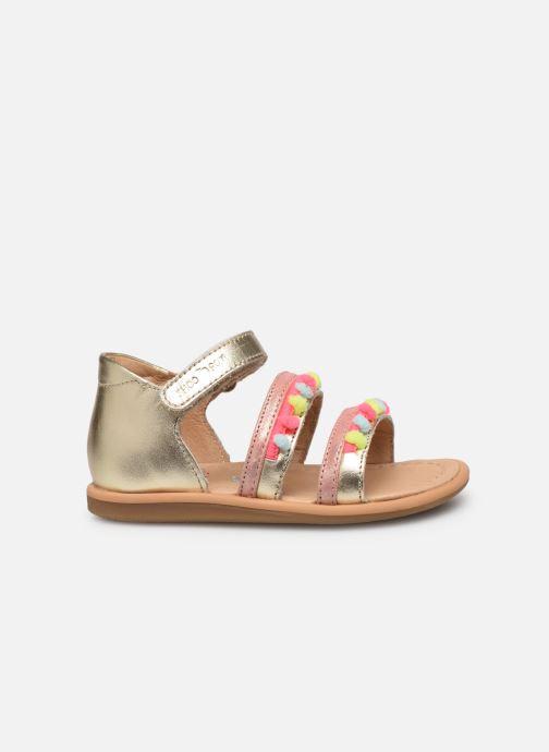 Sandales et nu-pieds Shoo Pom Tity New Pompon Or et bronze vue derrière