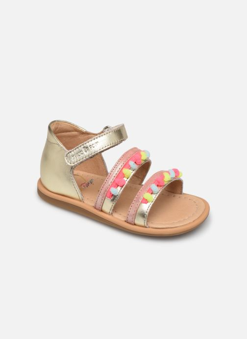 Sandales et nu-pieds Shoo Pom Tity New Pompon Or et bronze vue détail/paire