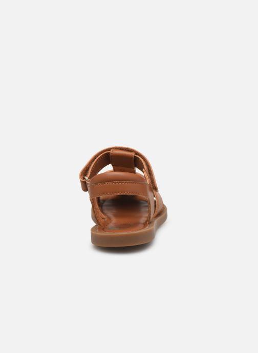 Sandales et nu-pieds Shoo Pom Solar Tonton Marron vue droite