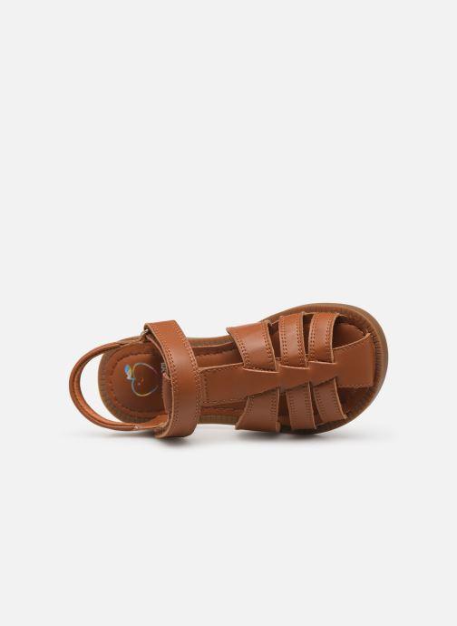 Sandales et nu-pieds Shoo Pom Solar Tonton Marron vue gauche