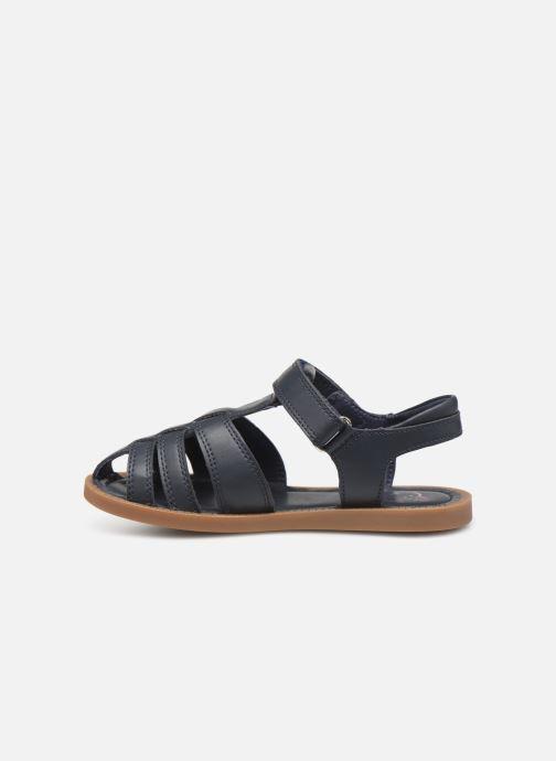 Sandales et nu-pieds Shoo Pom Solar Tonton Bleu vue face