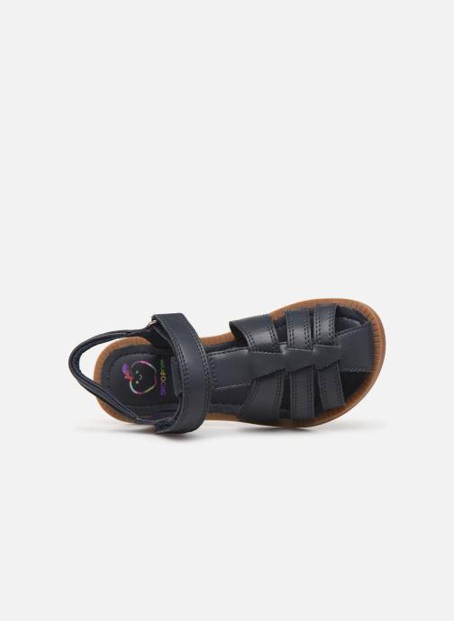 Sandales et nu-pieds Shoo Pom Solar Tonton Bleu vue gauche