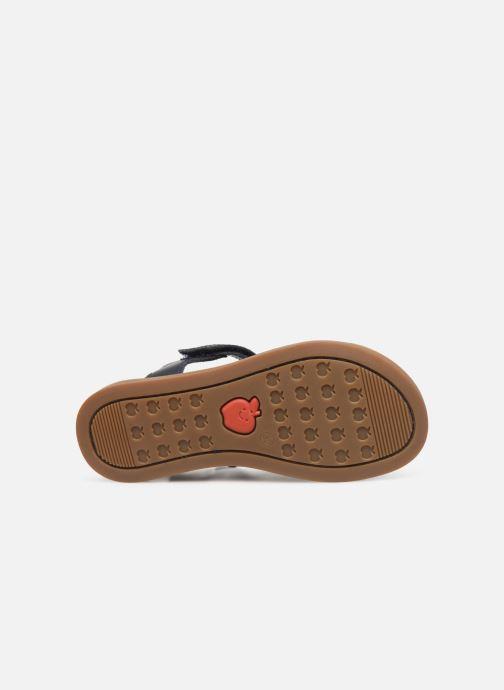Sandales et nu-pieds Shoo Pom Solar Tonton Bleu vue haut